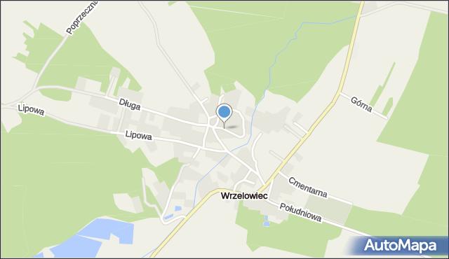 Wrzelowiec, Krzywa, mapa Wrzelowiec
