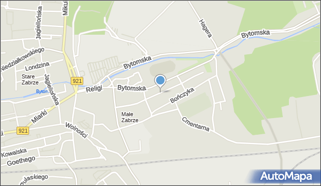 Zabrze, Krakusa, mapa Zabrza
