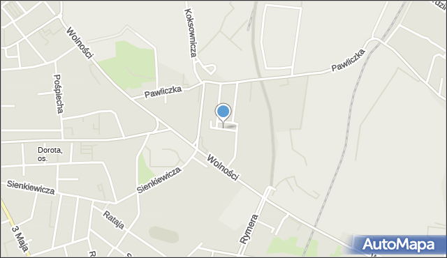 Zabrze, Krawczyka Klemensa, mapa Zabrza