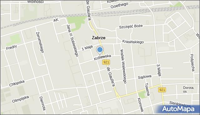 Zabrze, Królewska, mapa Zabrza