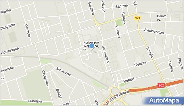 Zabrze, Krzywoń Anieli, mapa Zabrza