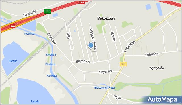 Zabrze, Królowej Jadwigi, mapa Zabrza