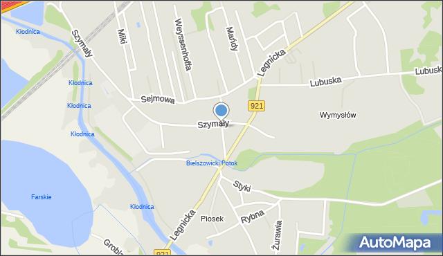 Zabrze, Kruszyny Kazimierza, mapa Zabrza