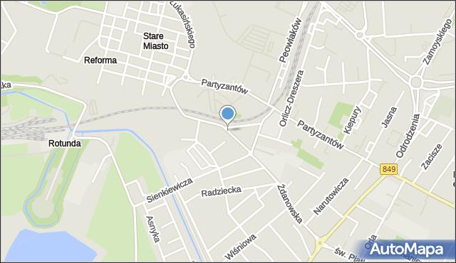 Zamość, Krysińskiego Jana, płk., mapa Zamościa