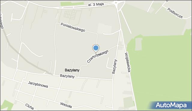 Chełm, Księcia Czartoryskiego Adama Kazimierza, mapa Chełma