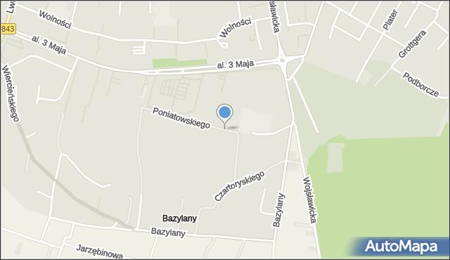 Chełm, Księcia Józefa Poniatowskiego, mapa Chełma