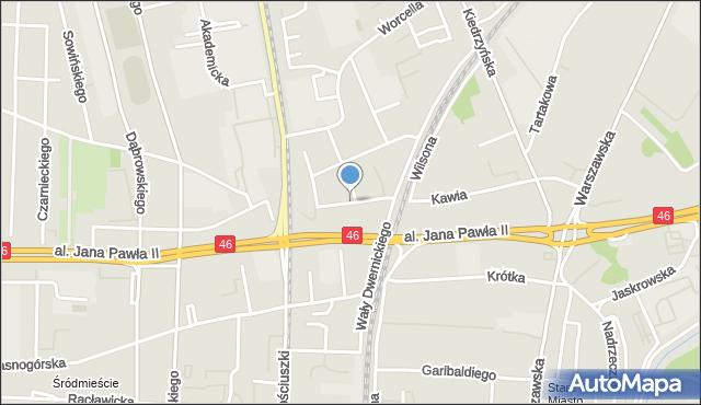 Częstochowa, Księcia Czartoryskiego Adama Jerzego, mapa Częstochowy