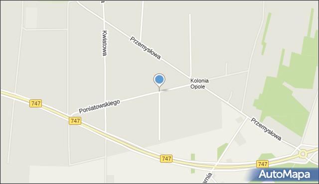 Opole Lubelskie, Księcia Józefa Poniatowskiego, mapa Opole Lubelskie