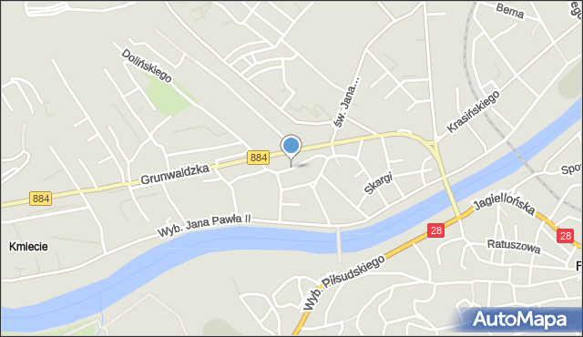 Przemyśl, Księcia Józefa Poniatowskiego, mapa Przemyśla