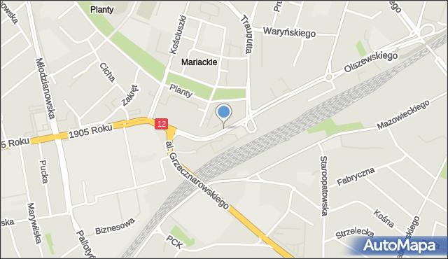 Radom, Księcia Józefa Poniatowskiego, mapa Radomia
