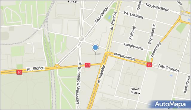 Szczecin, Księcia Witolda, mapa Szczecina