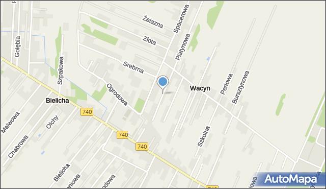 Wacyn, Księżycowa, mapa Wacyn
