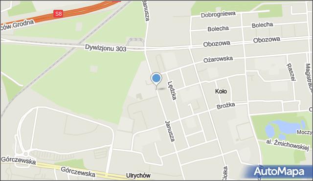 Warszawa, Księcia Janusza, mapa Warszawy