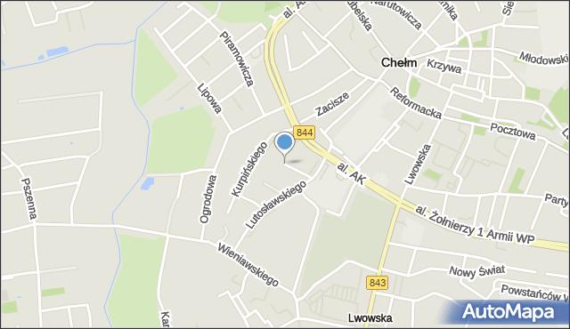 Chełm, Kurpińskiego Karola, mapa Chełma