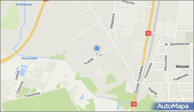 Grudziądz, Kujota Stanisława, ks., mapa Grudziądza