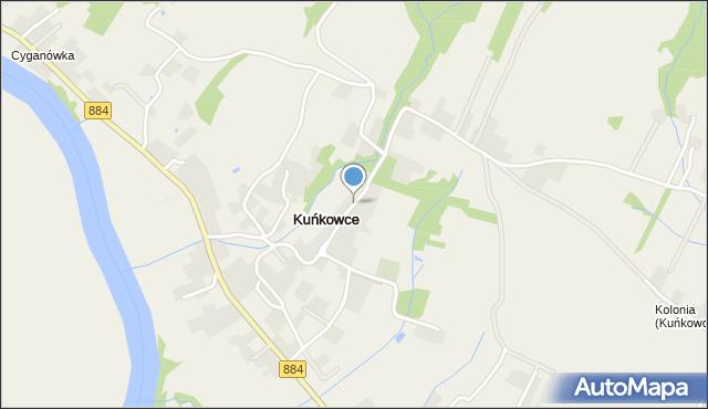 Kuńkowce, Kuńkowce, mapa Kuńkowce