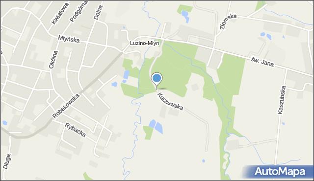 Luzino, Kuczewska, mapa Luzino