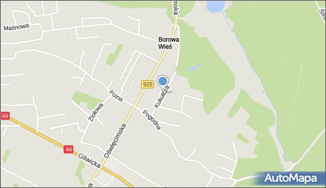 Mikołów, Kukułcza, mapa Mikołów