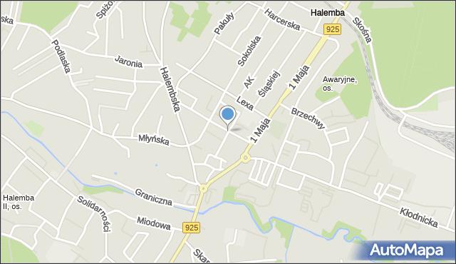 Ruda Śląska, Kukuczki Jerzego, mapa Rudy Śląskiej