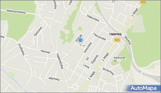 Ruda Śląska, Kurpiowska, mapa Rudy Śląskiej
