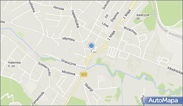Ruda Śląska, Kuźników, mapa Rudy Śląskiej