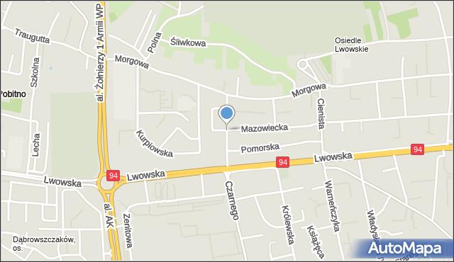 Rzeszów, Kujawska, mapa Rzeszów