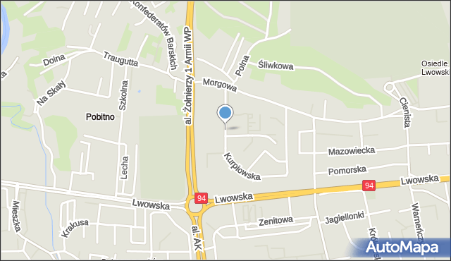 Rzeszów, Kurpiowska, mapa Rzeszów