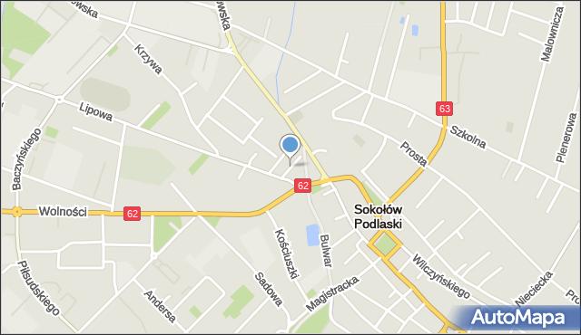 Sokołów Podlaski, Kubusia Puchatka, mapa Sokołów Podlaski