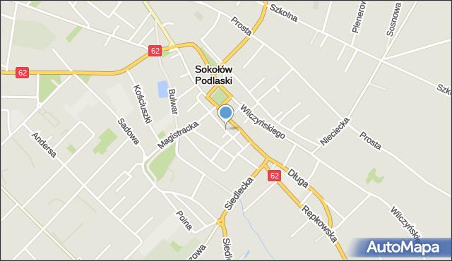 Sokołów Podlaski, Kuśnierska, mapa Sokołów Podlaski