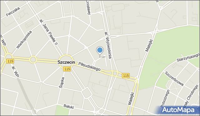 Szczecin, Kujawska, mapa Szczecina