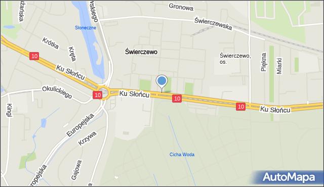 Szczecin, Ku Słońcu, mapa Szczecina