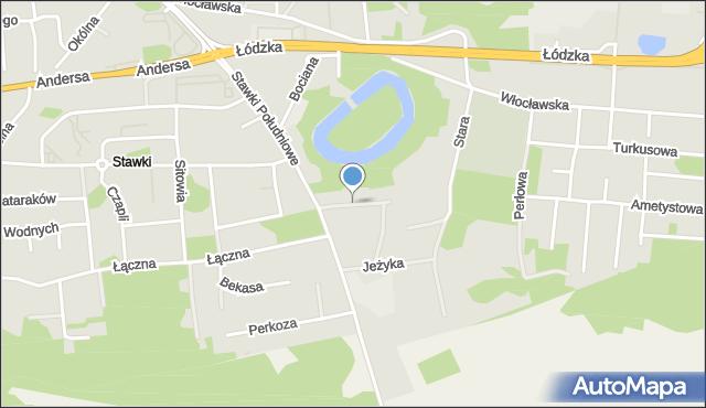 Toruń, Kukułki, mapa Torunia