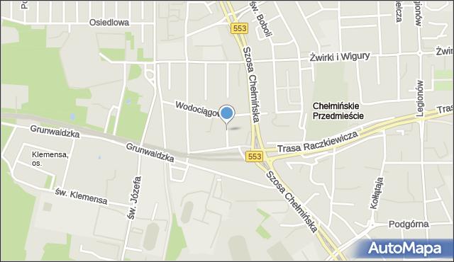 Toruń, Kurpiowska, mapa Torunia