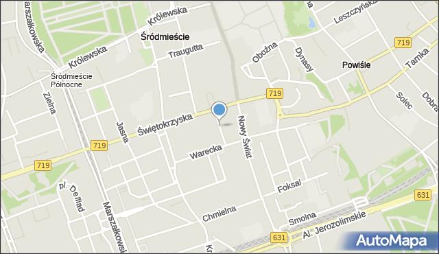 Warszawa, Kubusia Puchatka, mapa Warszawy