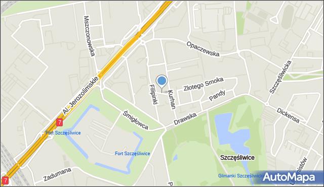Warszawa, Kukiełki, mapa Warszawy