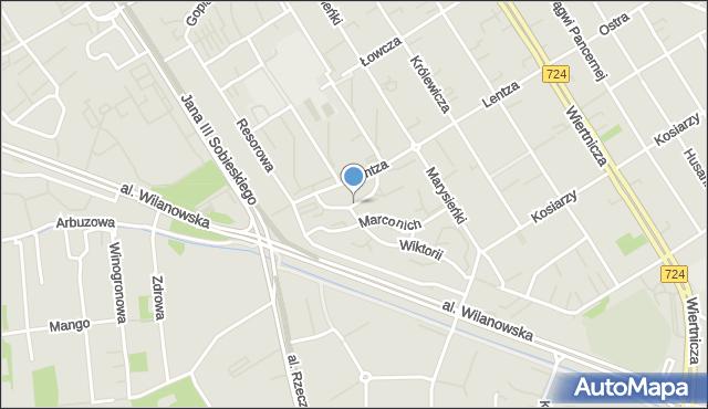 Warszawa, Kubickiego Jakuba, mapa Warszawy