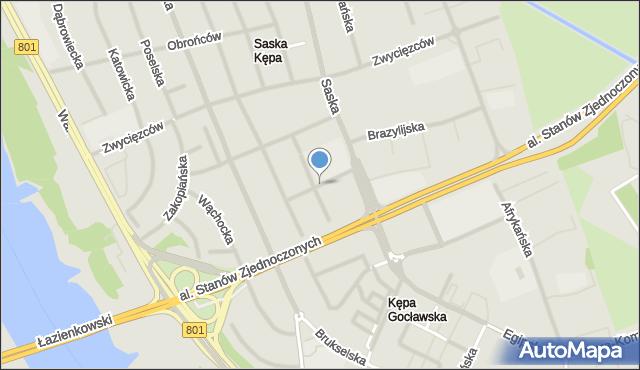Warszawa, Kubańska, mapa Warszawy