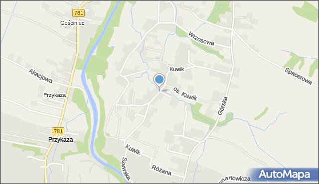 Wieprz powiat wadowicki, Kuwik, mapa Wieprz powiat wadowicki