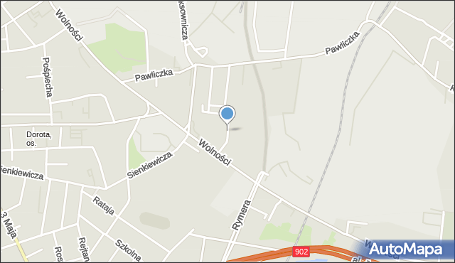 Zabrze, Kupca Jana, mapa Zabrza