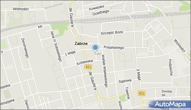 Zabrze, Kupki Zygfryda, mapa Zabrza