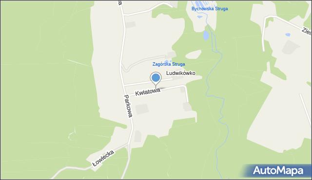 Barłomino, Kwiatowa, mapa Barłomino