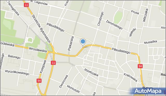 Bytom, Kwietniewskiego Józefa, mapa Bytomia
