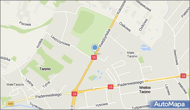 Grudziądz, Kwidzyńska, mapa Grudziądza