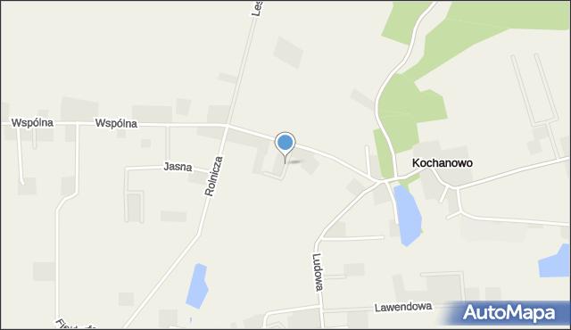 Kochanowo gmina Luzino, Kwiatowa, mapa Kochanowo gmina Luzino