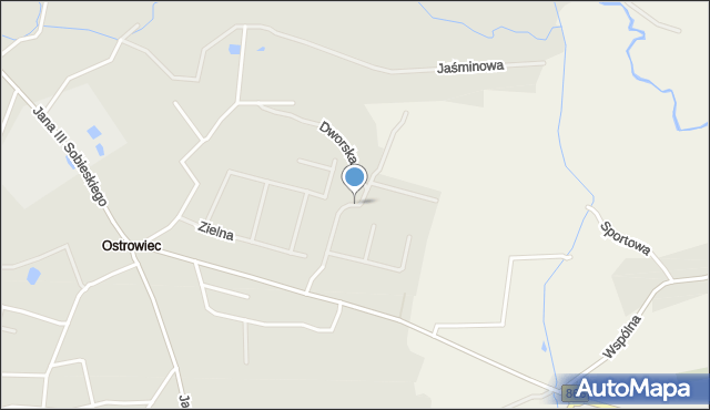 Lubaczów, Kwiatowa, mapa Lubaczów