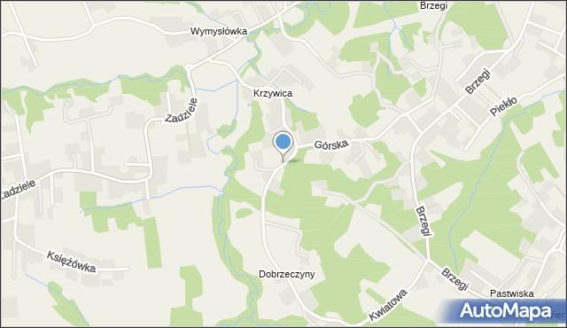 Lusina gmina Mogilany, Kwiatowa, mapa Lusina gmina Mogilany