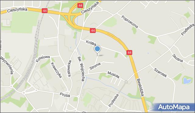 Mikołów, Kwietna, mapa Mikołów