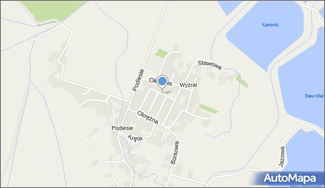 Przeciszów, Kwiatowa, mapa Przeciszów