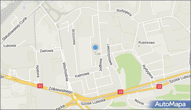 Toruń, Kwitnącej Jabłoni, mapa Torunia