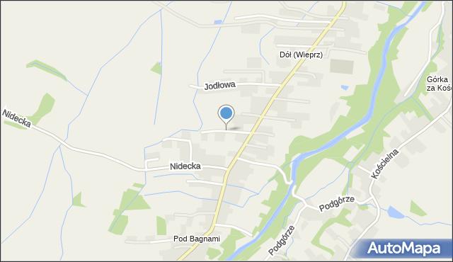 Wieprz powiat wadowicki, Kwiatowa, mapa Wieprz powiat wadowicki